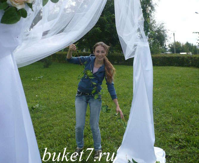 Свадебная арка мастер класс с фото