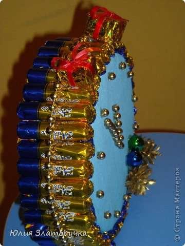 Новогодние часы своими руками мастер класс видео фото 922