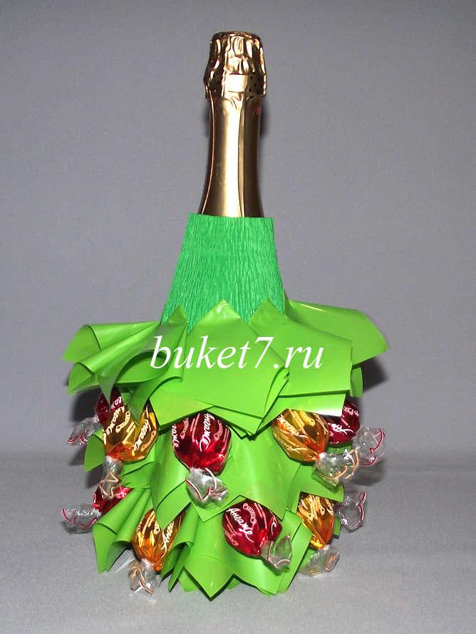 Шампанское из конфет мастер класс 38