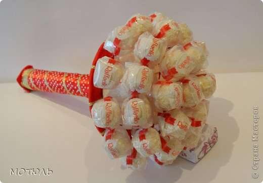 Букет из конфет рафаэлло своими руками фото