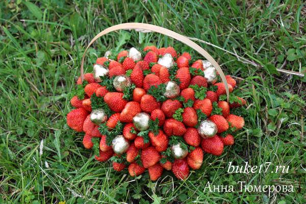 Композиция из ягод и цветов своими руками 71