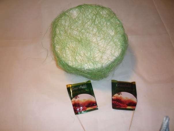 Чайно-конфетный букет МК фото 3