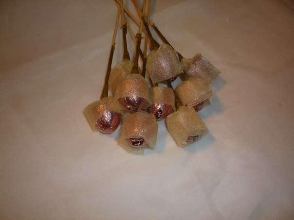 Чайно-конфетный букет МК фото 7
