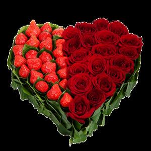Композиция из ягод и цветов своими руками 194