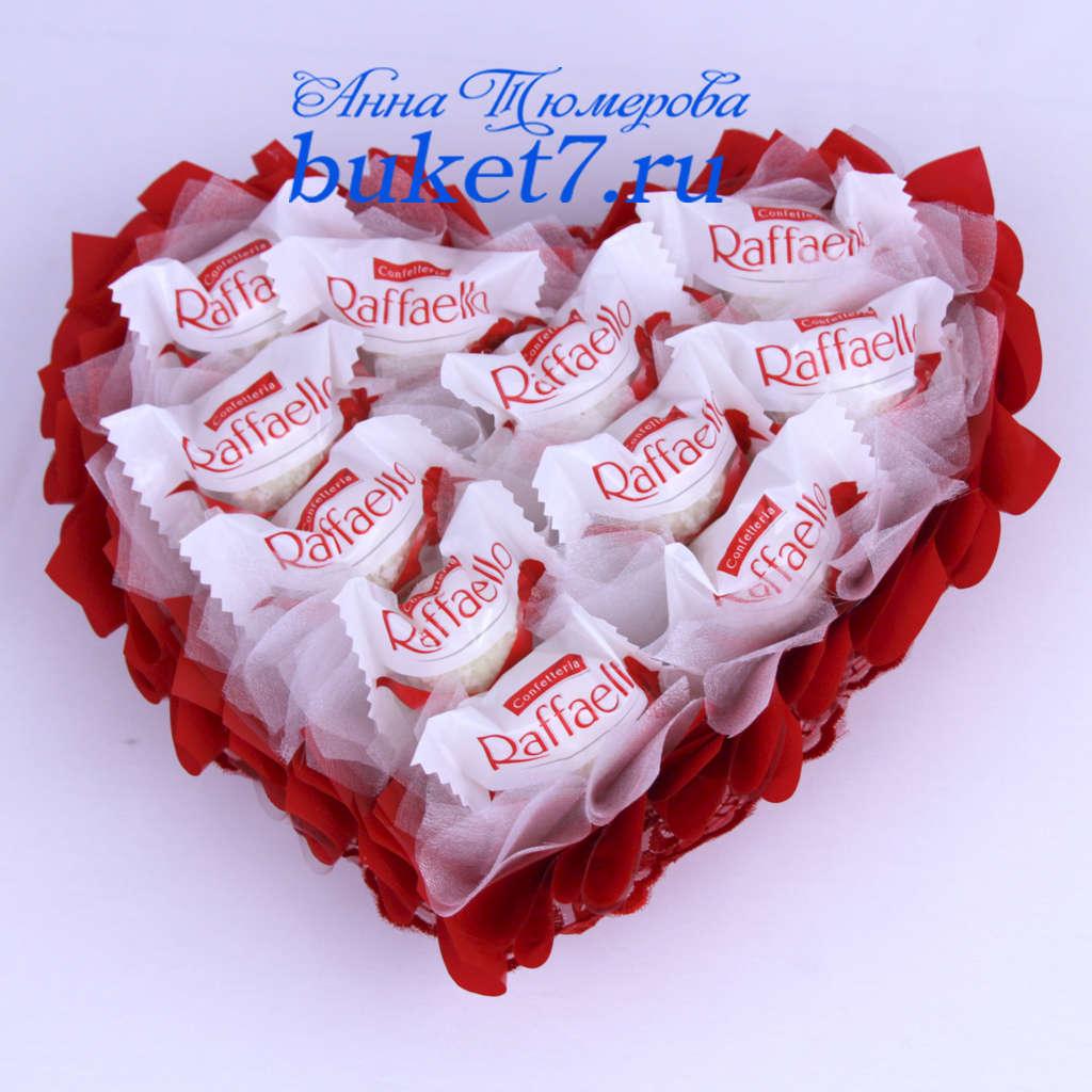 Валентинка из конфет своими руками фото