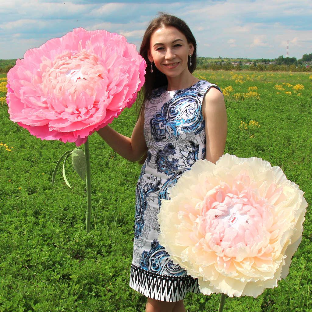Свадебное оформление бумажными цветами (50 фото) 88