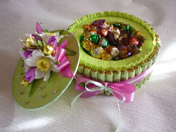 Торт из конфет и гофрированной бумаги своими руками мастер класс 151