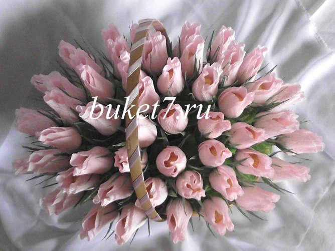 Фото пошаговое розы из конфет