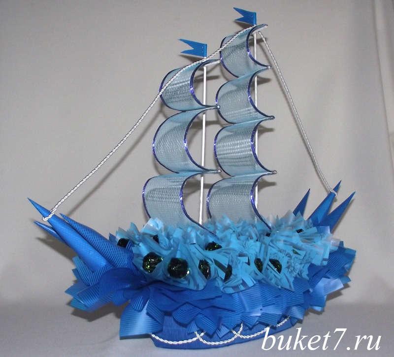 Корабль из конфет своими руками с бутылкой