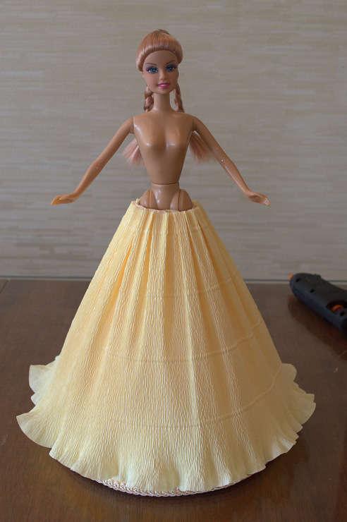 Как сделать кукле платье своими руками из ткани
