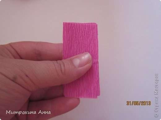 Как сделать английскую розу из гофрированной бумаги Шаг 10