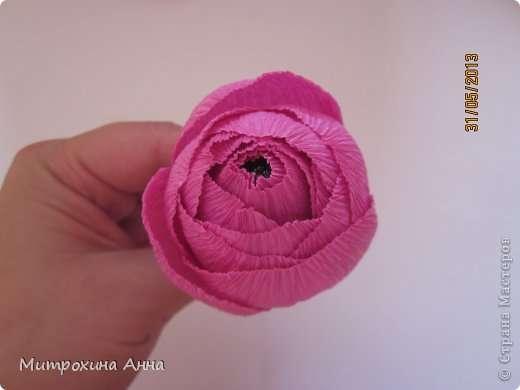 Как сделать английскую розу из гофрированной бумаги Шаг 18