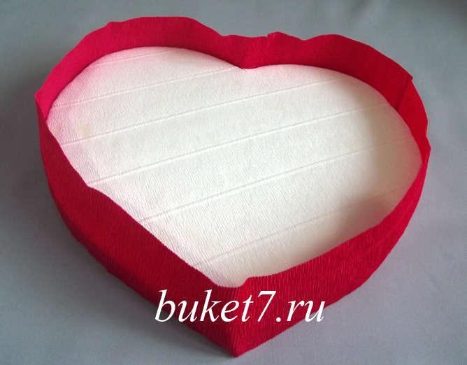 Сердце из конфет Фото МК Шаг 11