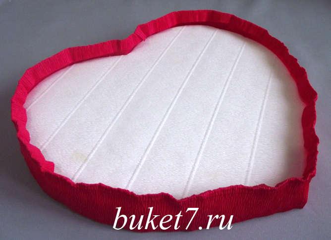 Сердце из конфет МК14