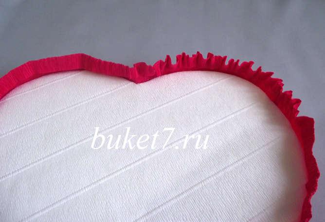 Сердце из конфет Фото МК Шаг 15