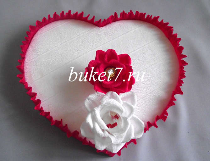 Сердце из конфет Фото МК Шаг 18