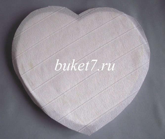 Сердце из конфет Фото МК Шаг 2
