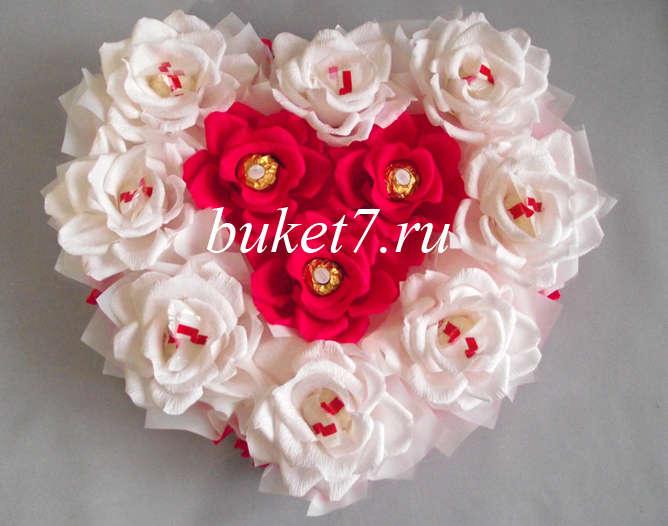 Сердце из конфет МК21