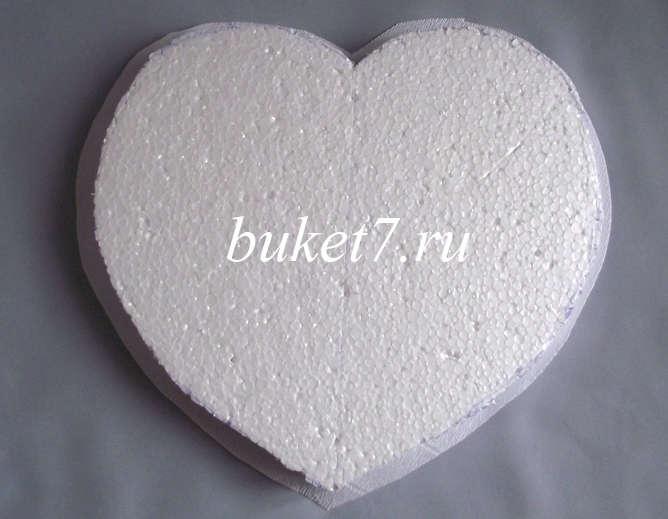 Сердце из конфет Фото МК Шаг 3