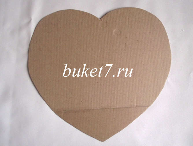 Сердце из конфет - шаблон