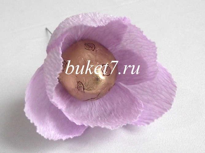 Цветок из конфеты своими руками мастер класс