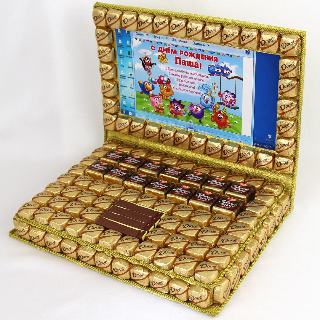 Ноутбуки из конфет своими руками 377