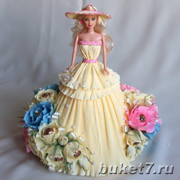 Свои руками букет из конфеты кукла - Кукла из конфет и гофрированной бумаги. Doll of sweets and